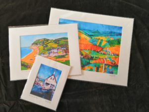 Examples of Small, Medium, and Large Mounted Prints