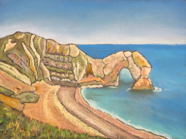 Black Pastel Durdle Door