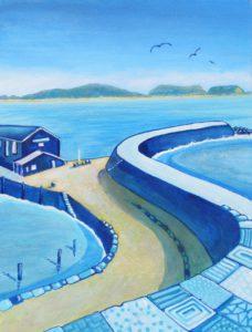 Blue Patterns of the Cobb, Lyme Regis