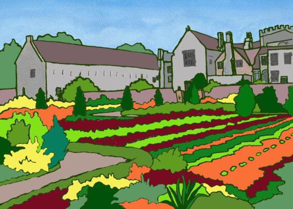 Forde Abbey Kitchen Garden in Autumn