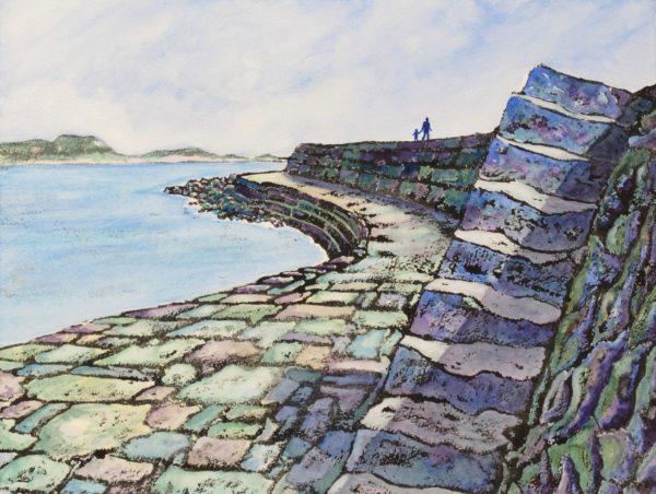 Golden Cap from the Cobb Steps, Lyme Regis