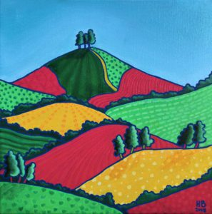 Red and Green Patterns of Colmer's Hill