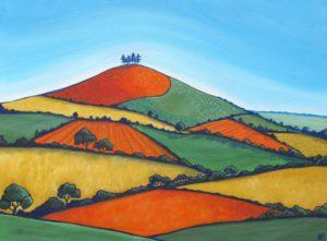 Orange and Green Colmer's Hill