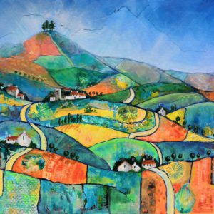 Patchwork View to Colmer's Hill