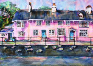 Pink Cottages, Marine Parade, Lyme Regis