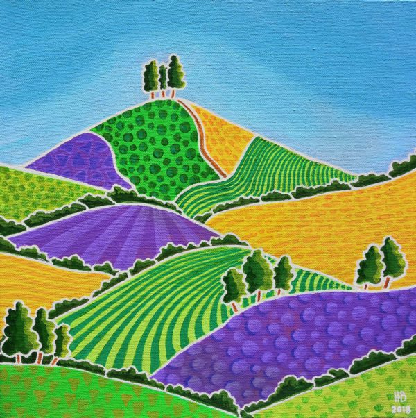 Purple and Green Patterns of Colmer's Hill