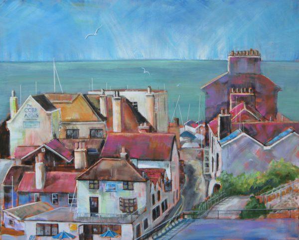 Rooftops near the Cobb, Lyme Regis