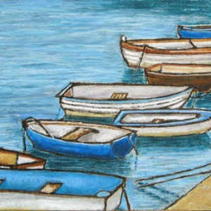 Small boats at the Cobb, Lyme Regis