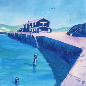 Square Lilac Cobb, Lyme Regis