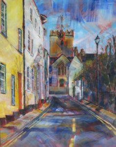 St Michaels from Monmouth Street, Lyme Regis