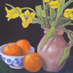 Yellow Tulips with Oranges