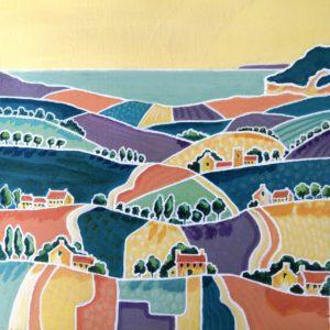 Colourful Dorset Hills