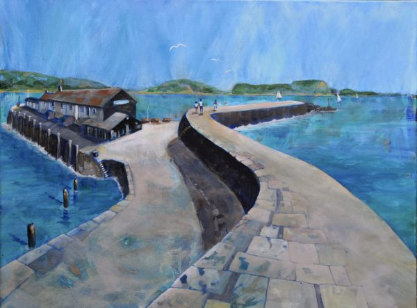 Looking along the Cobb, Lyme Regis