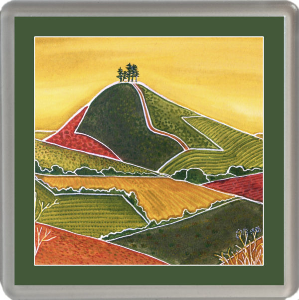 Patterns of Colmer's Hill with green border