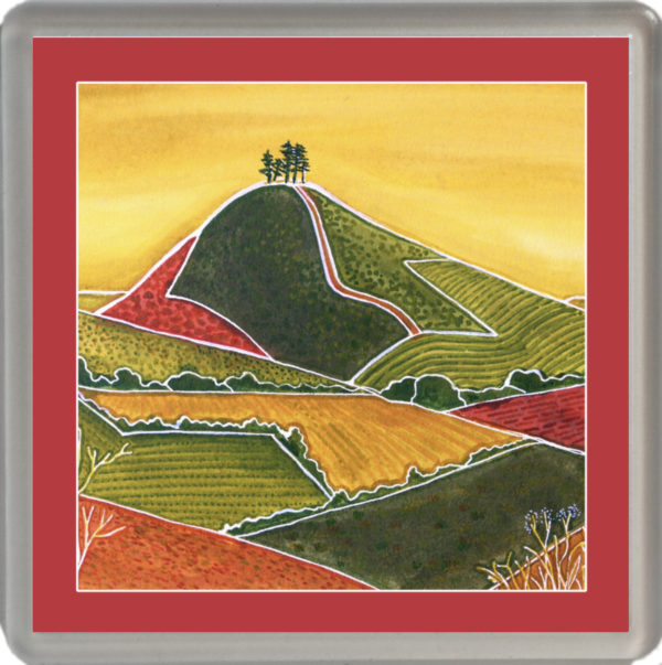 Patterns of Colmer's Hill with red border
