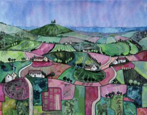 Pink Patchwork to Colmer's Hill