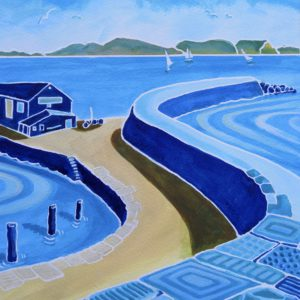 Azure Patterns of the Cobb, Lyme Regis