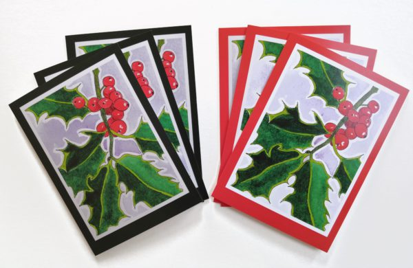 Holly Christmas Card Pack
