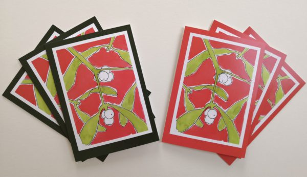 Mistletoe Christmas Card Pack