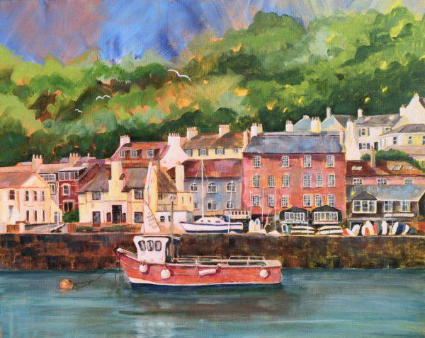 Looking back at Marine Parade, Lyme Regis
